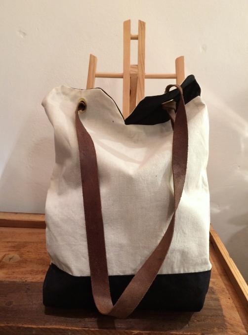 Minimal Bag -cotone e pelle