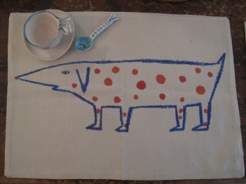 Tovaglietta colazione cane