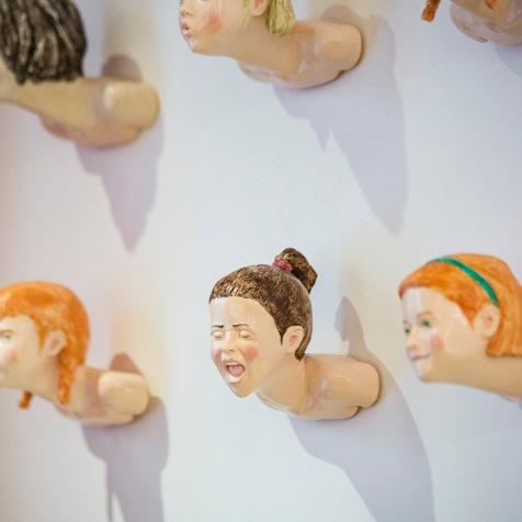 """""""Heads""""Sculture di Oliviero Draghi Foto di Enrica Quaranta"""