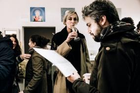 """Inaugurazione mostra """"Come ti santi"""" di Lucilla Vecchiarino."""
